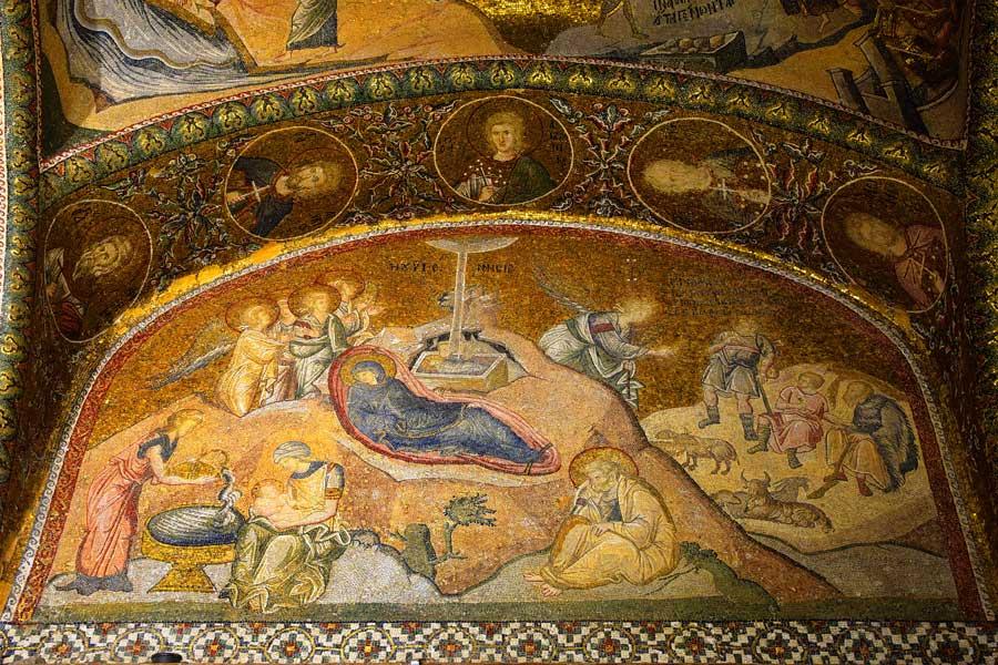 Das Mosaik der Geburt von Jesus Christus
