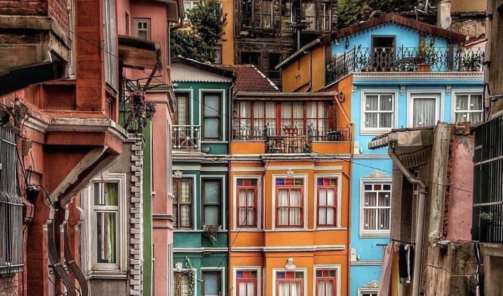 Straßen von Balat & historische Gebäude Istanbul